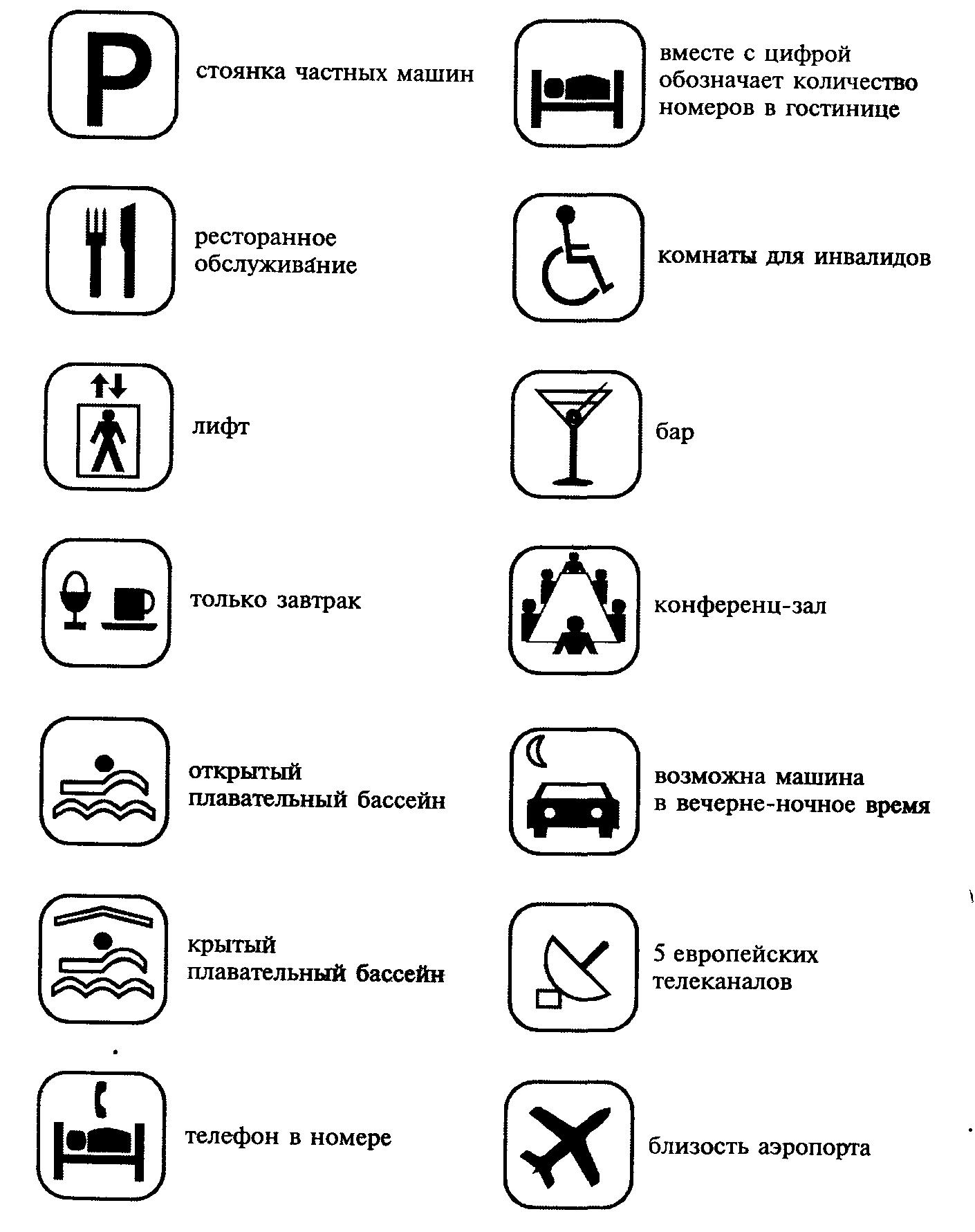 пиктограммы и их значения в картинках