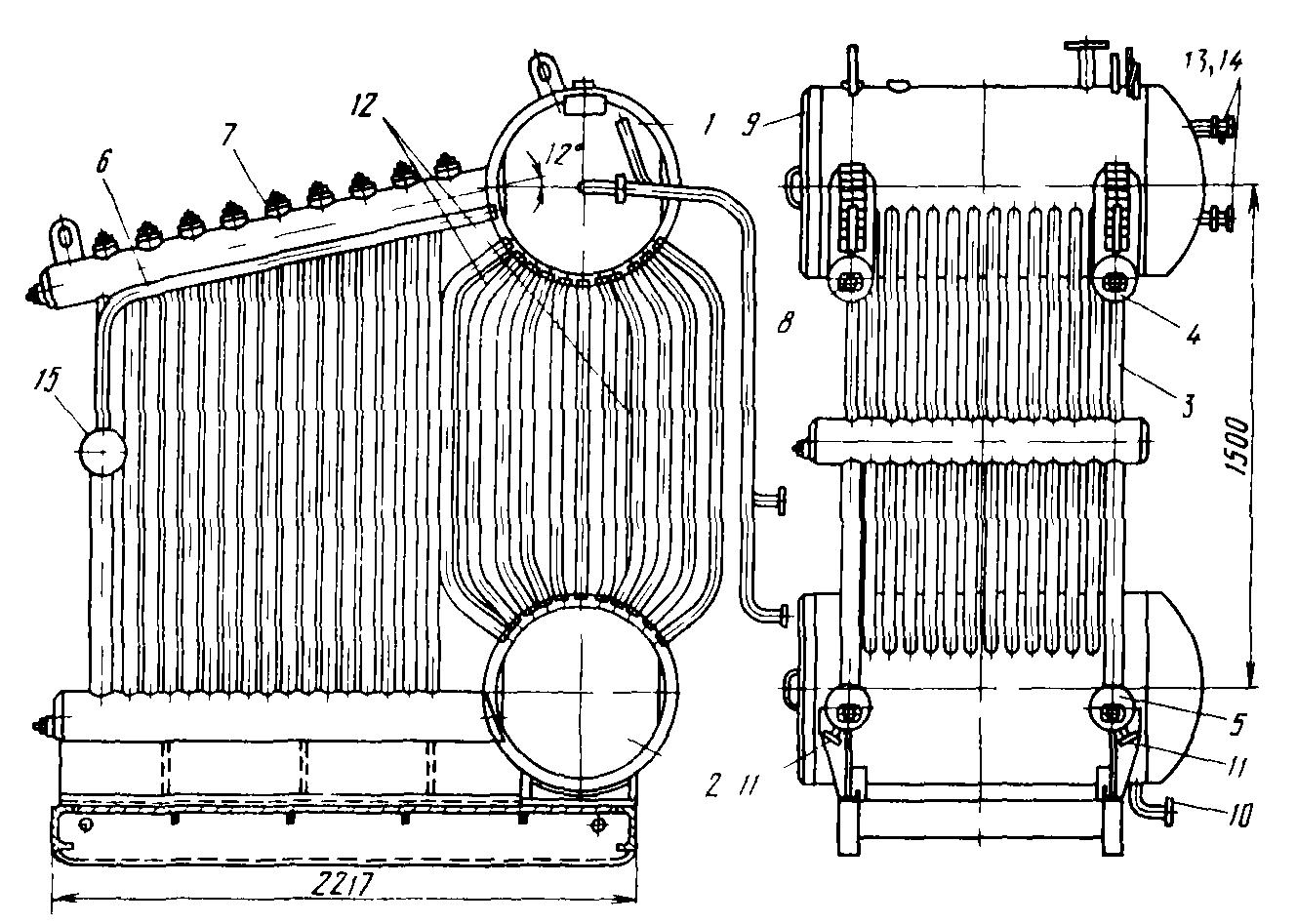 схема циркуляции воды в котле квгм-20