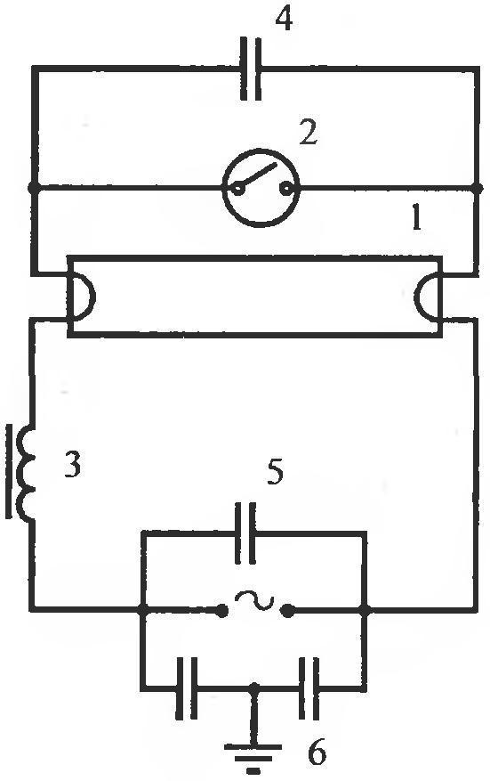 Схема зажигания люминесцентных ламп фото 354