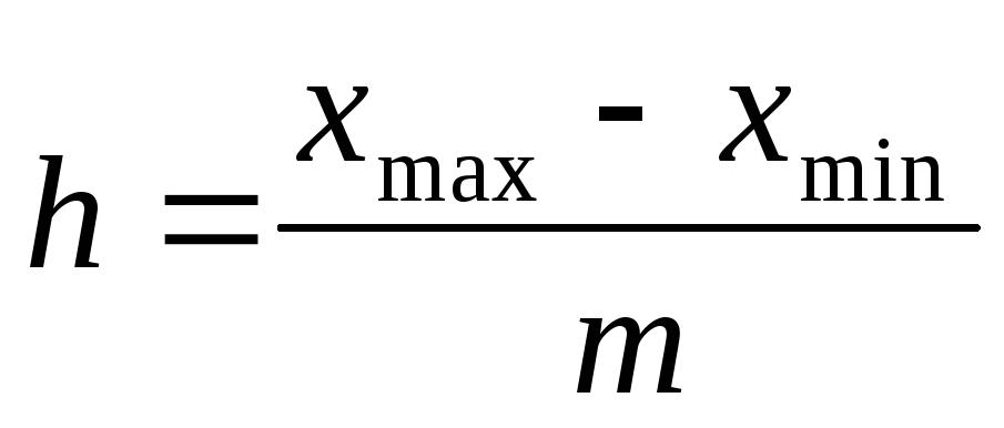 Контрольная работа по статистике Вариант №  Для построения интервального ряда вначале определяем размер интервала