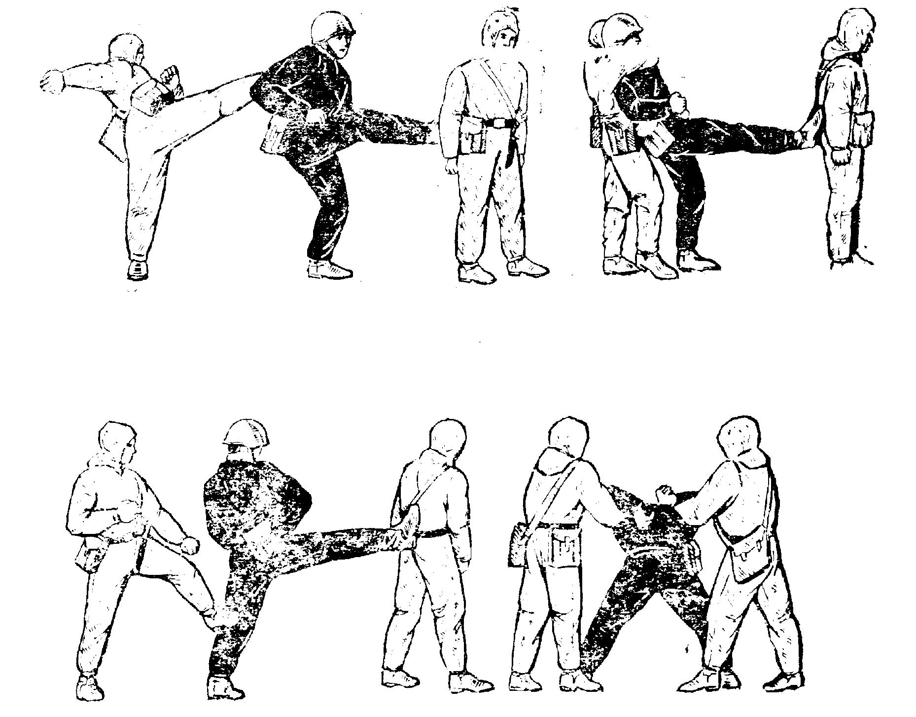 Азы рукопашного бою в картинках
