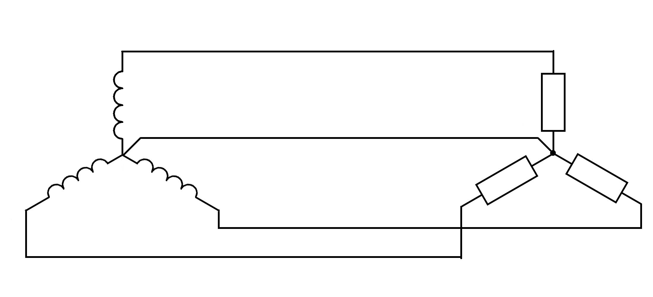 Трехфазный переменный ток  этом случае получается три независимые цепи рис 25 Такая схема носит название несвязанная трехфазная система она требует для передачи электрической