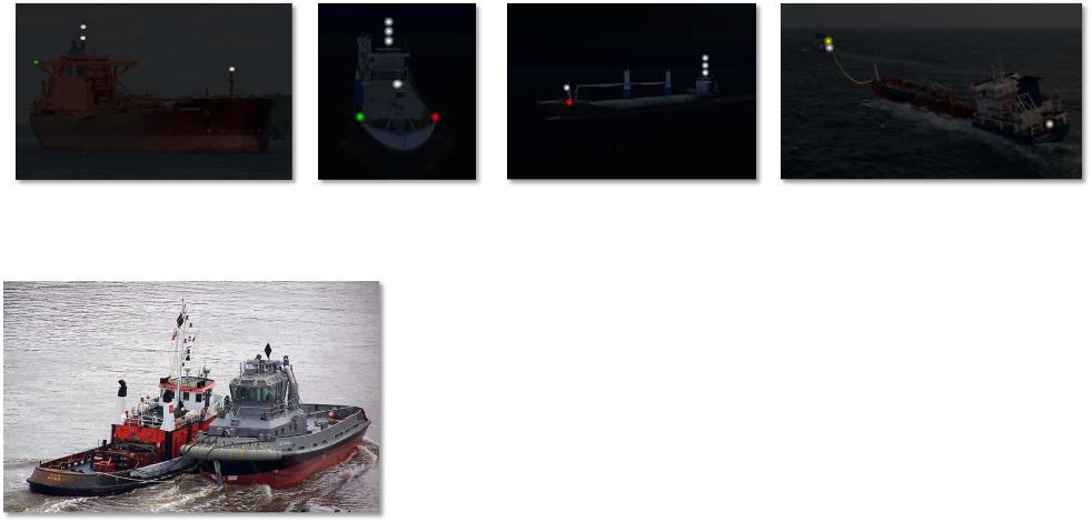 судно занятое буксировкойзайм через систему