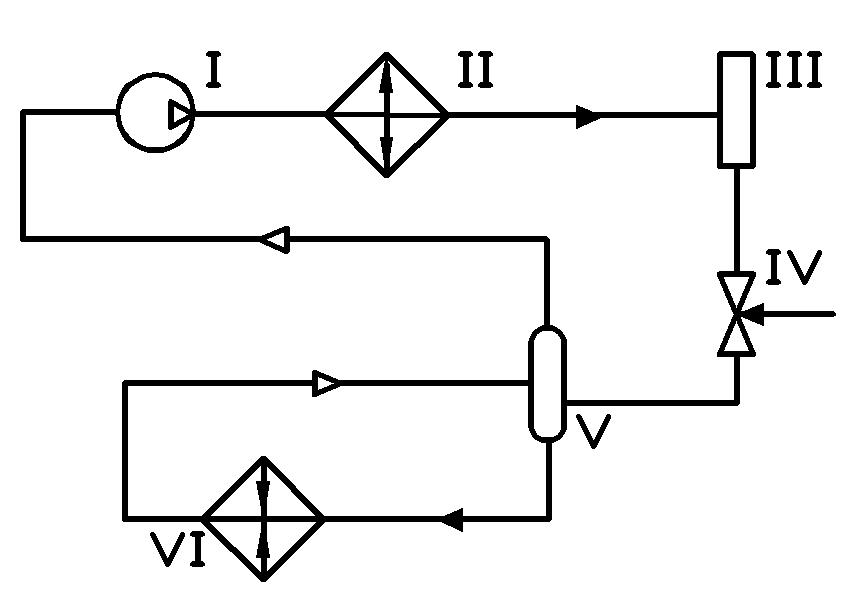 Схема холодильной машины с регенеративным теплообменником Кожухотрубный затопленный испаритель WTK FME 110 Орёл