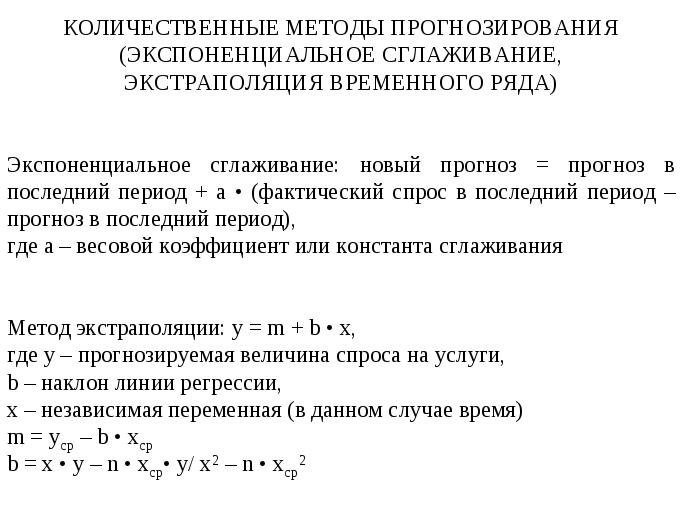 Белых метод экстраполяции по экспоненте вас интересуют