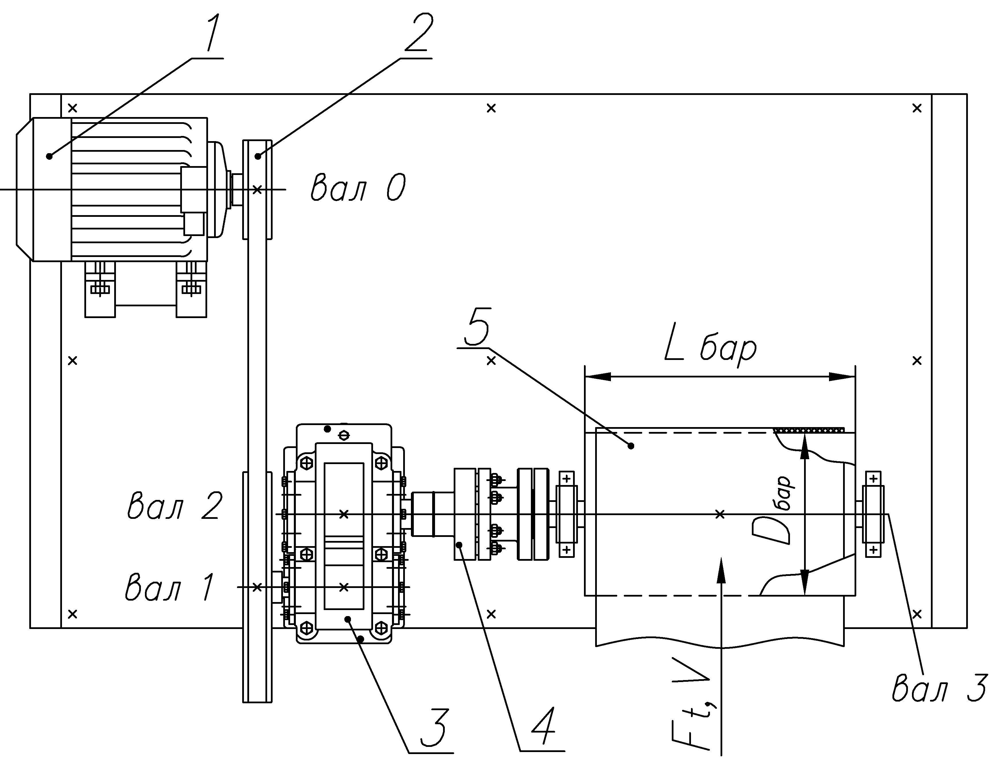 Цилиндрического прямозубого редуктора для привода ленточного конвейера чертеж гибкого транспортера