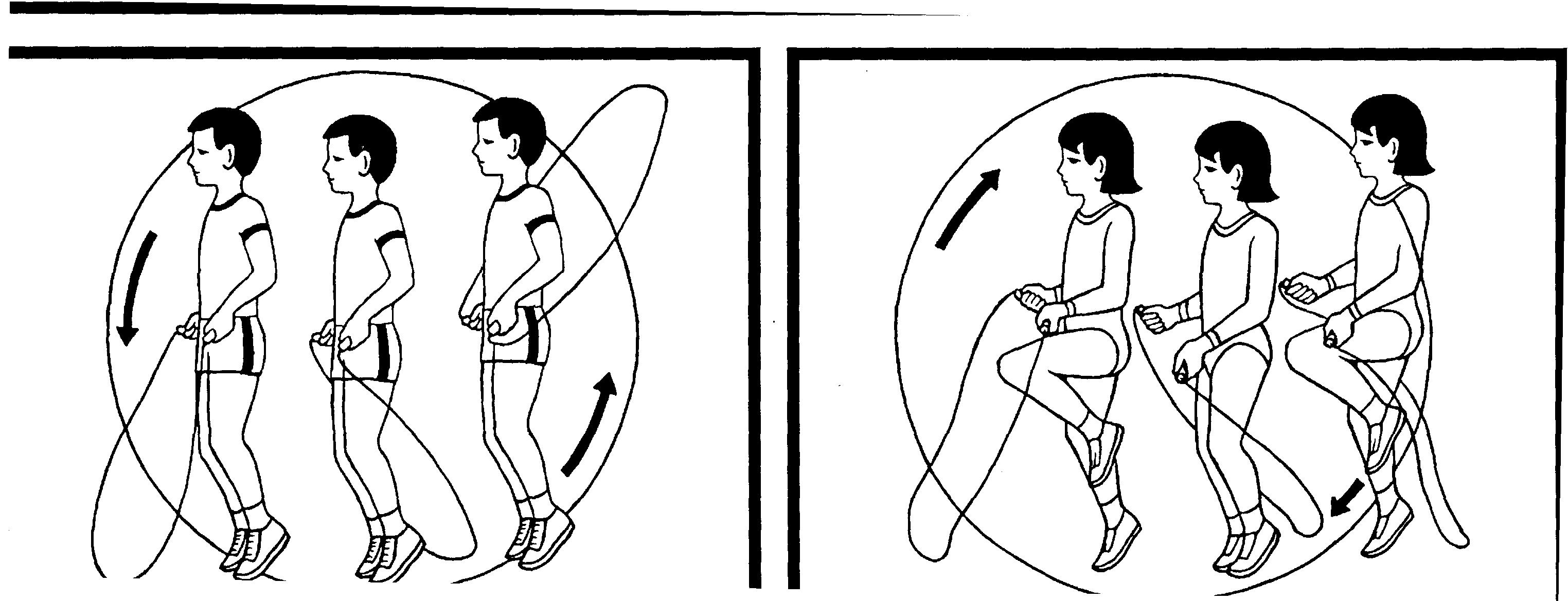Прыжки через скакалку картинки