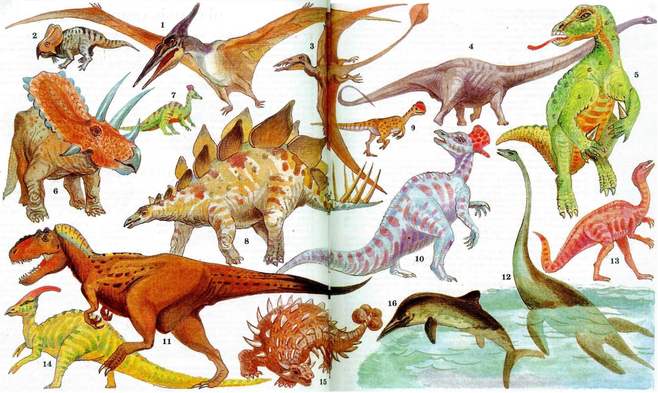 Картинки динозавры и их как зовут