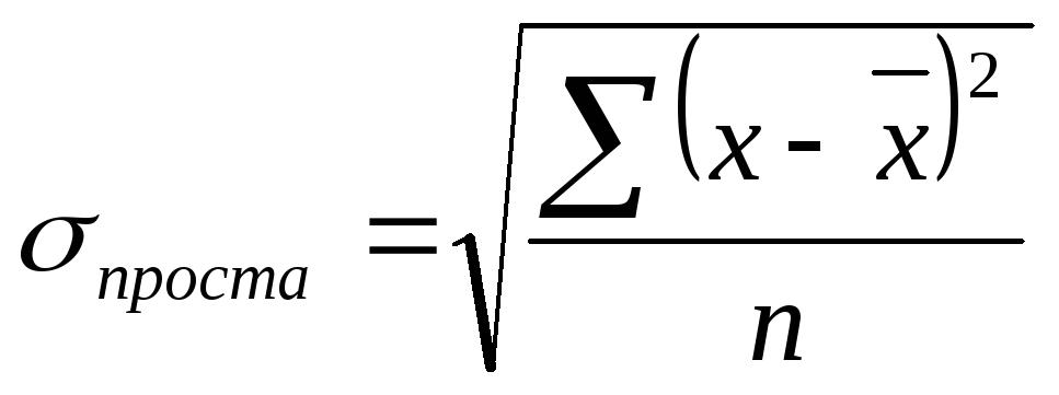 Тема Аналіз рядів розподілу У економіко статистичному аналізі варіацію ознак частіше оцінюють за середнім квадратичним відхиленням σ що являє собою корінь з дисперсії