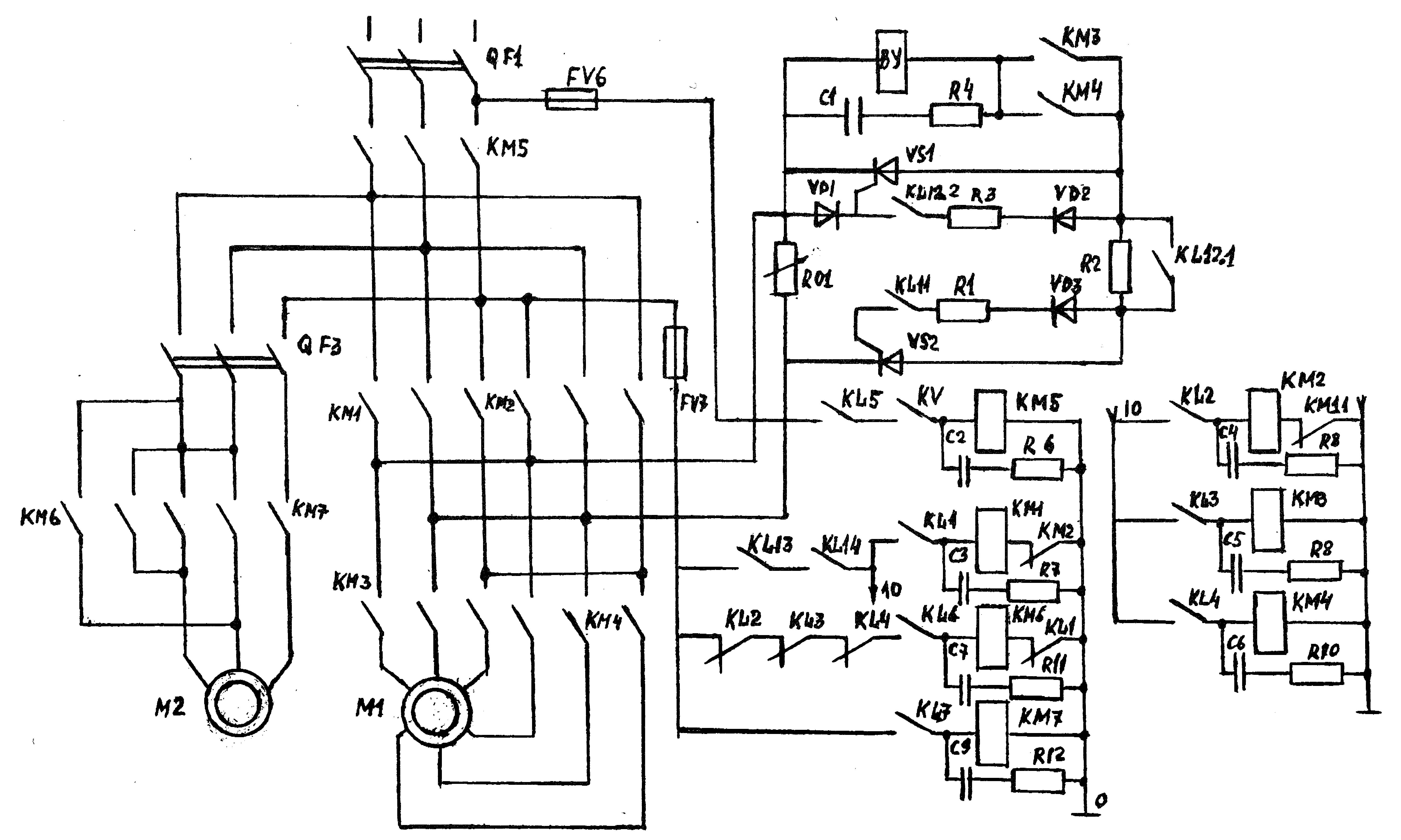 Электрическая схема управления мостовым краном фото 420