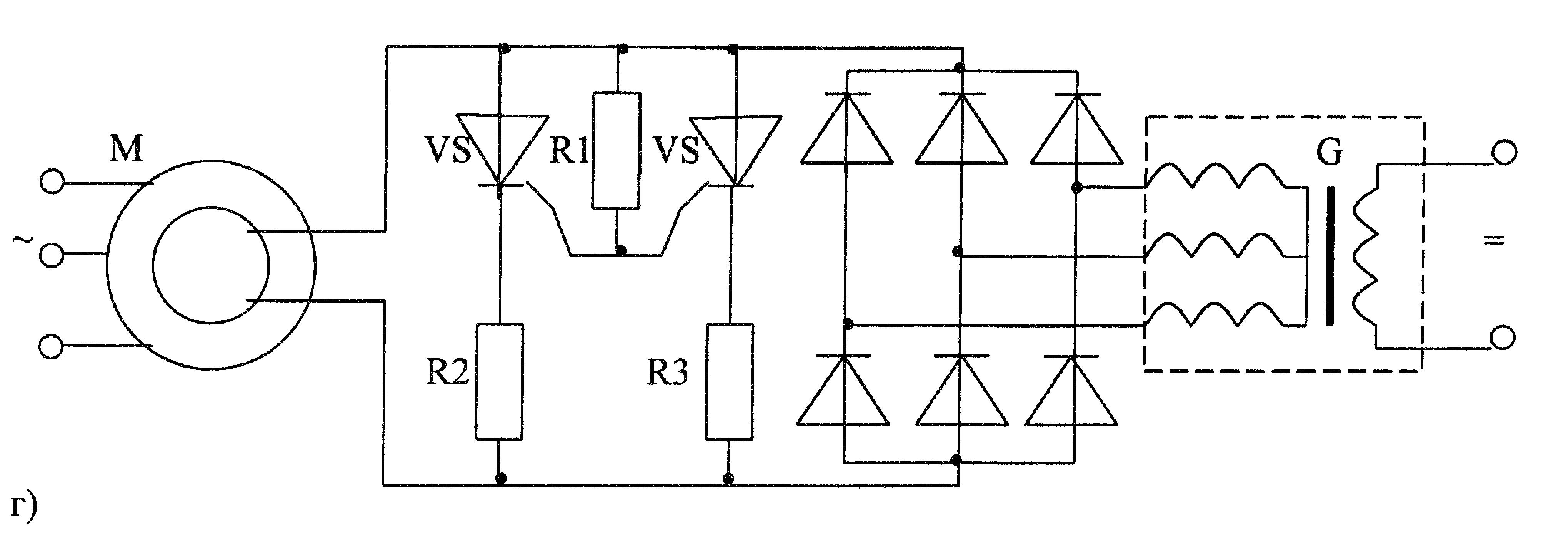 Синхронный двигатель на схеме