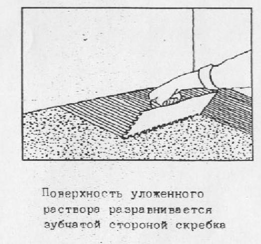 Облицовка полов глазурованными керамическими плитками  Приготовление полимерцементного раствора