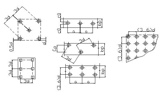 Три сваи в ростверке схема