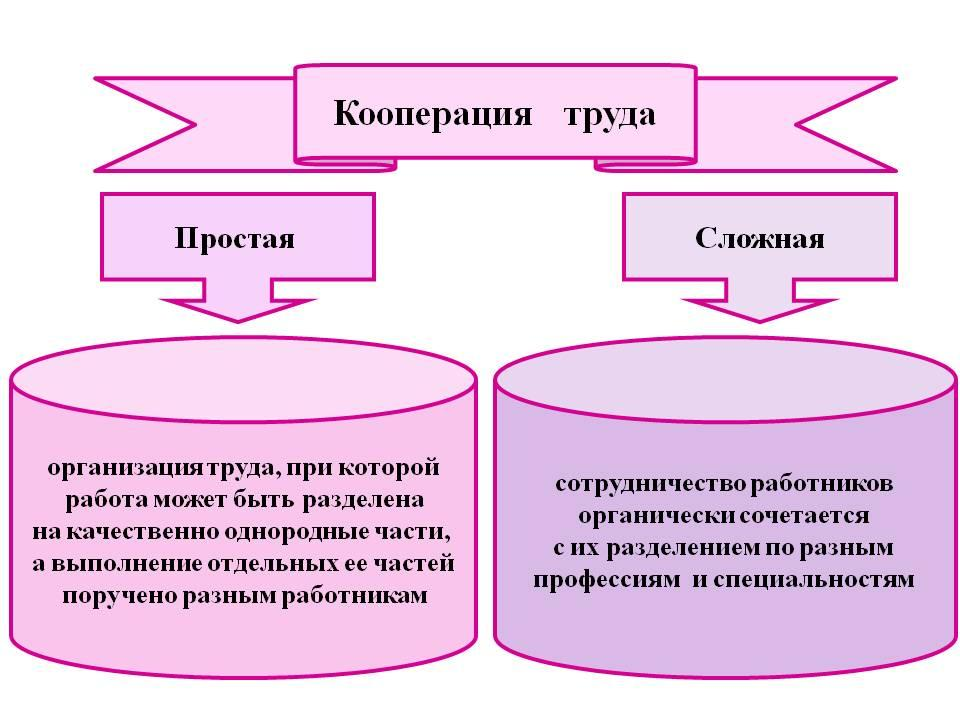 Разделение труда и кооперация реферат 6299