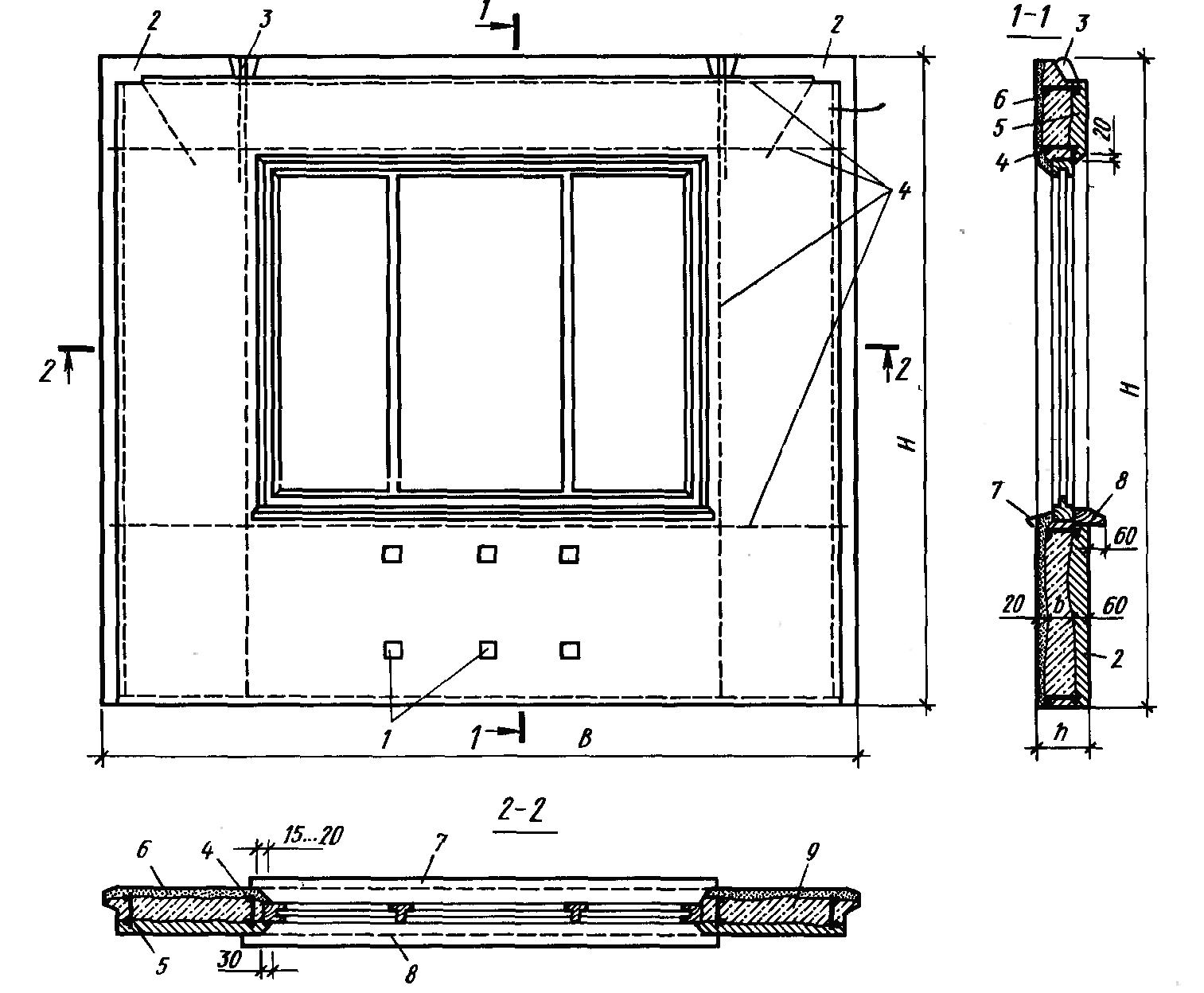2. конструкции стеновых панелей.