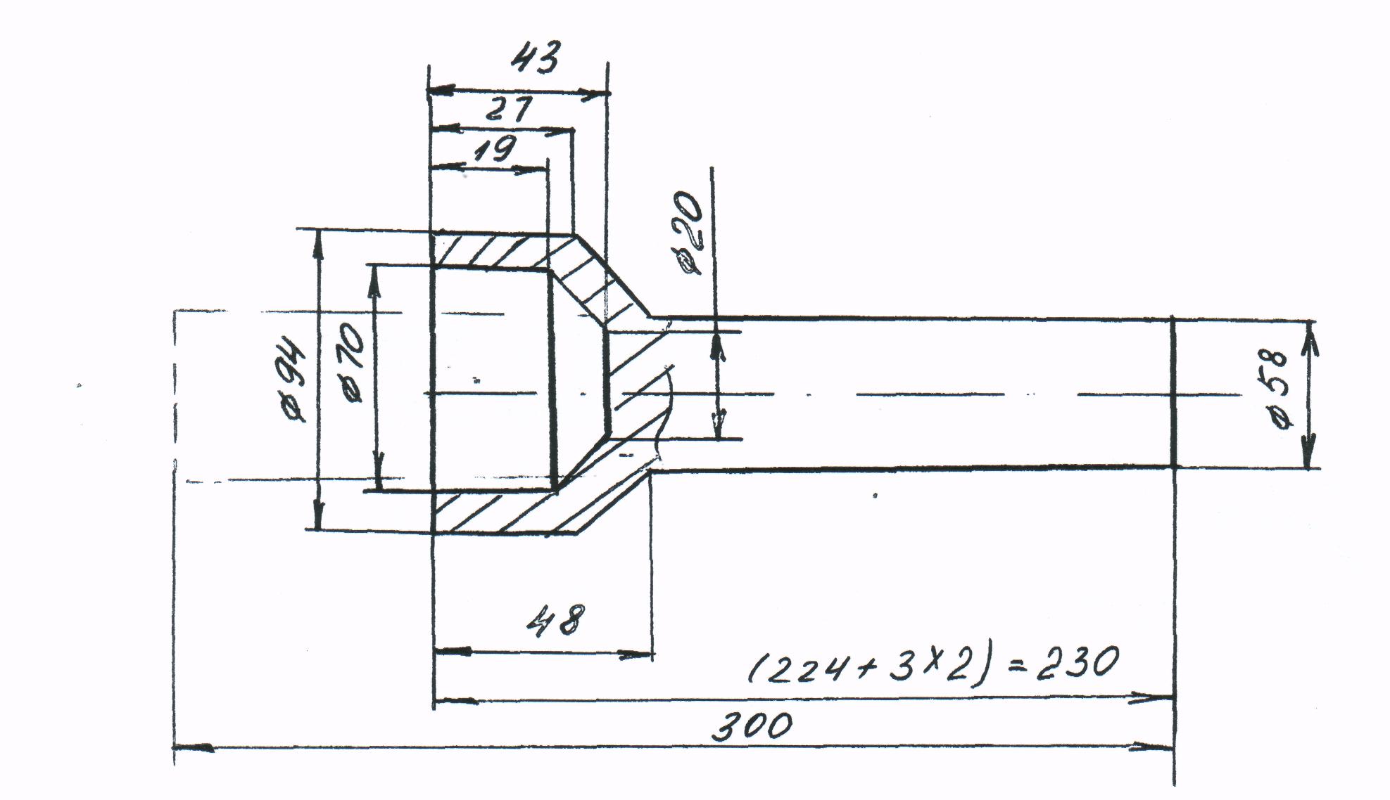 Пример решения контрольной работы №  должны быть предусмотрены радиусные закругления в соответствии ГОСТ радиусы закруглений у поковок массой до 10кг не менее 3 5 мм