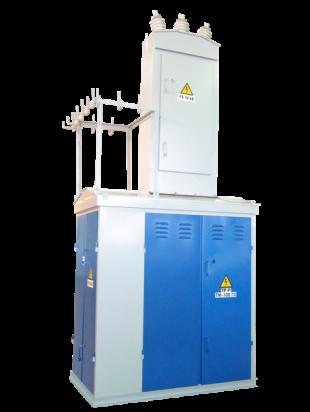 Комплектные трансформаторные подстанции Завод изготовляет также тупиковые трансформаторные подстанции уменьшенных габаритов наружной установки мощностью 25 160 кВА тупиковые воздушные на