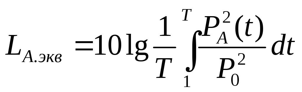 уровень звука дба формула