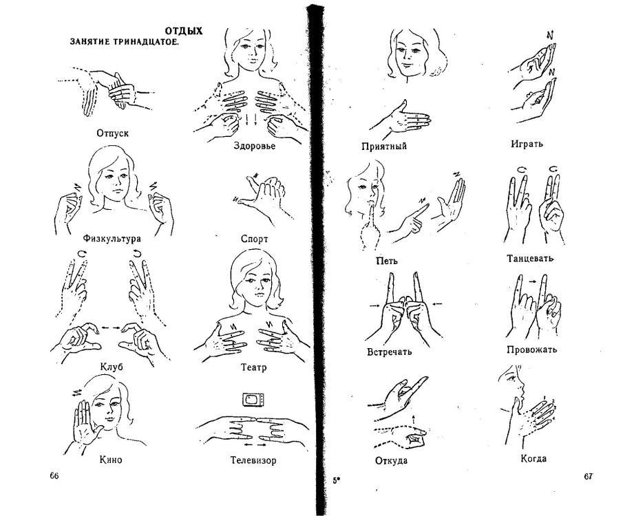 картинки жестов немых людей ознакомиться