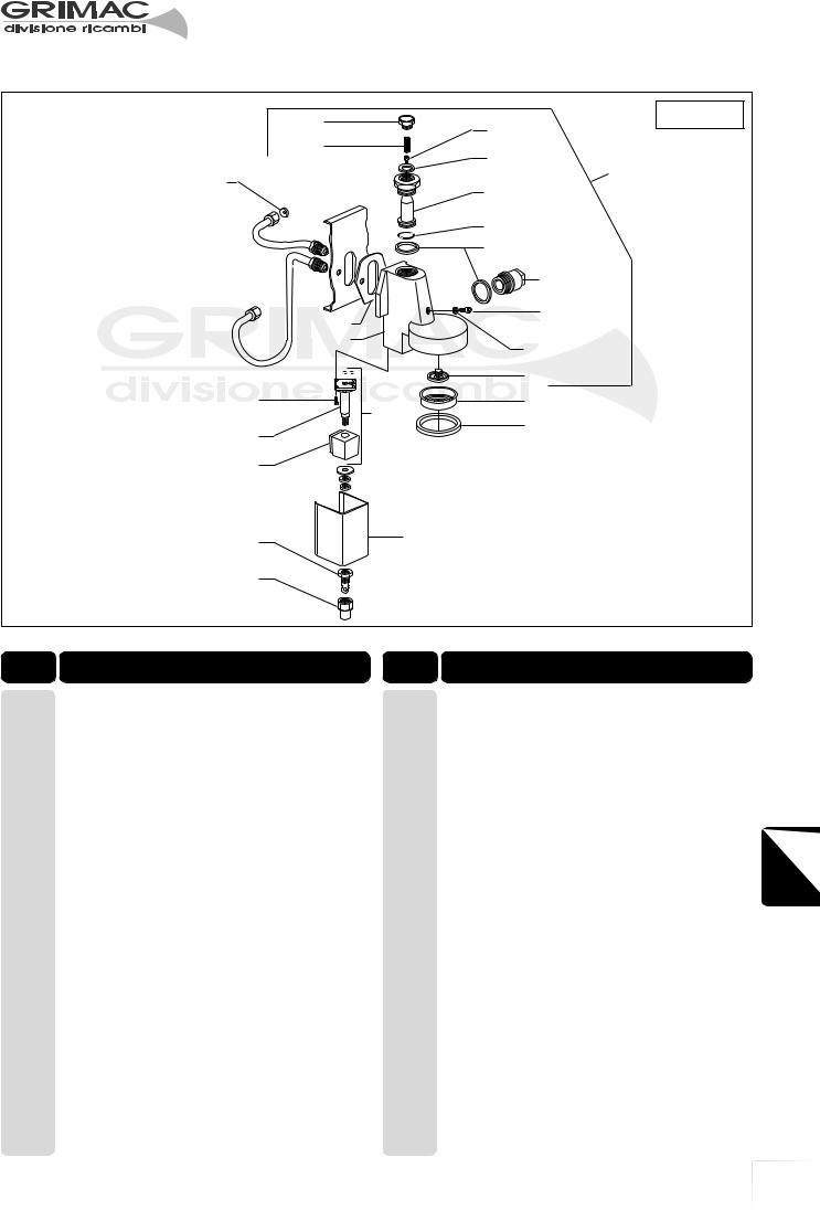 ZOLA-II RESISTENZA GRIMAC 3200W PER MACCHINA CAFFE/' GRIMAC ZOLA-I