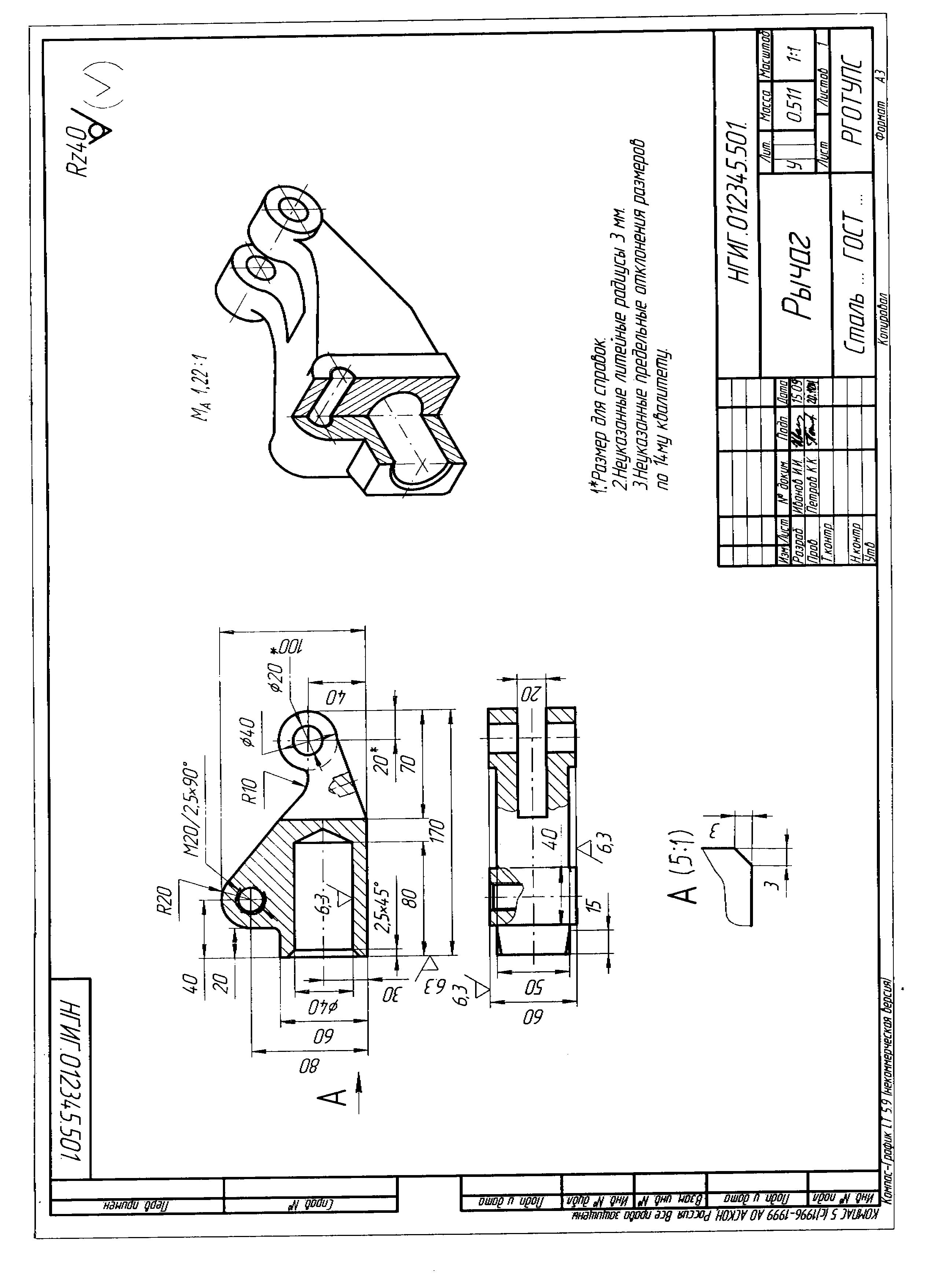 Содержание контрольной работы  Пример оформления задания №4