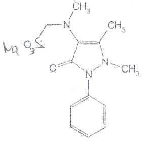 Метиленсульфидный остаток у анальгина