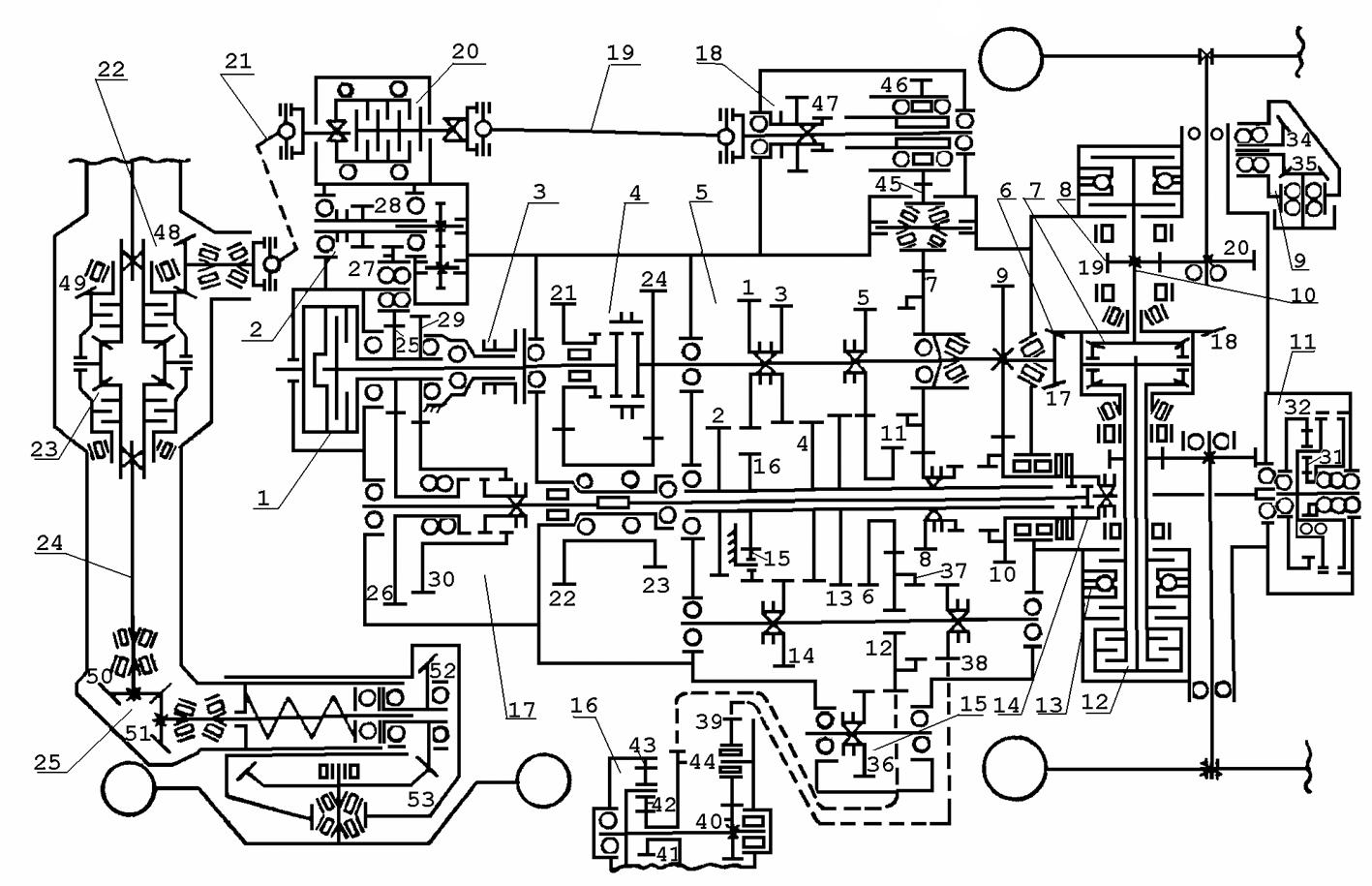 кинематическая схема дифференциала трактора