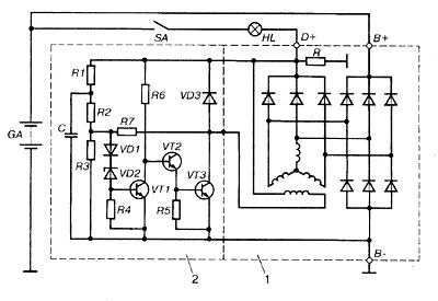 Регулятор напряжения генератора схема фото 218
