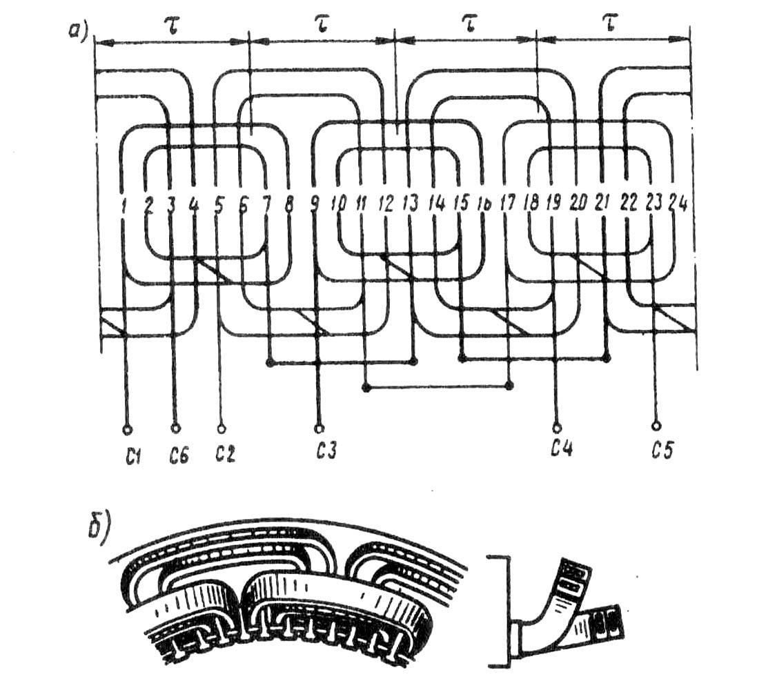Двигатель статор обмотки схемы