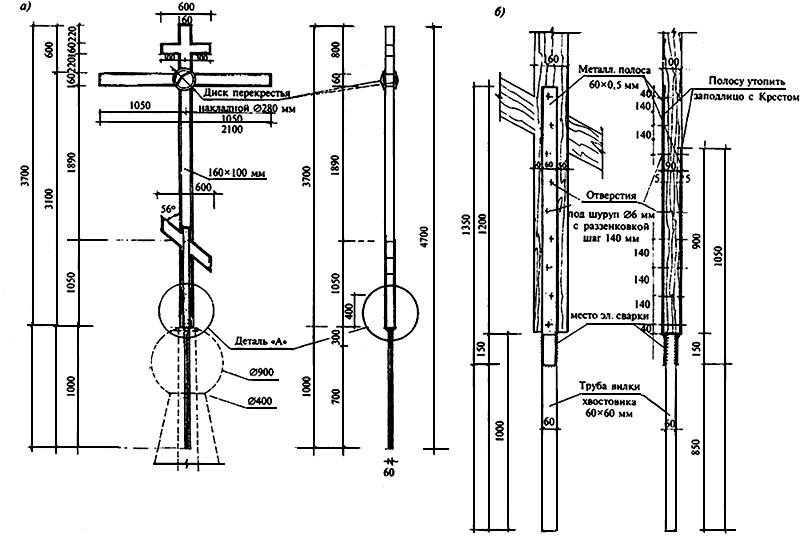 Металлический крест на могилу своими руками чертежи 56