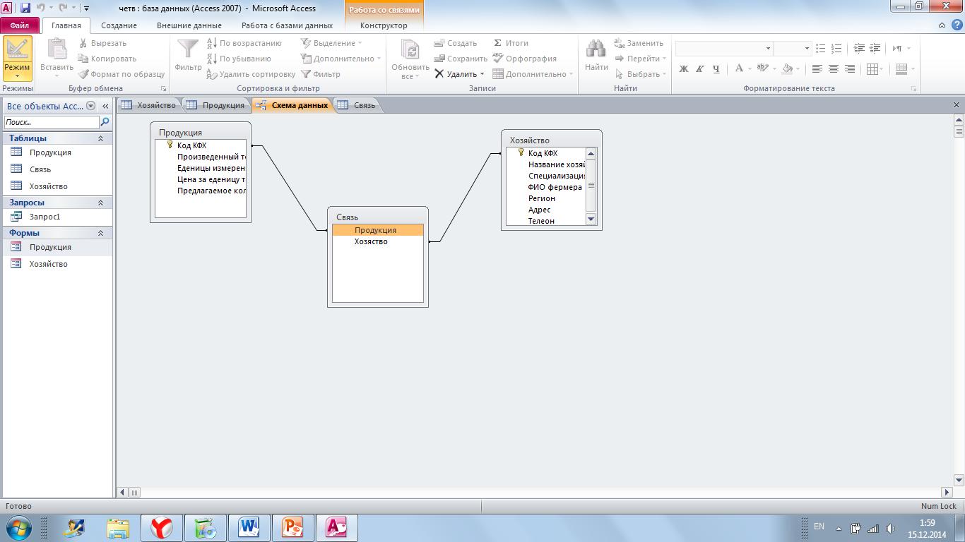 Как удалить связь в схеме данных Связывание таблиц на схеме данных