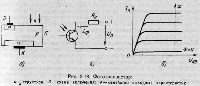 схемы применение фототранзисторов