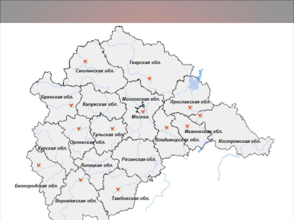 Карта центральной россии с городами