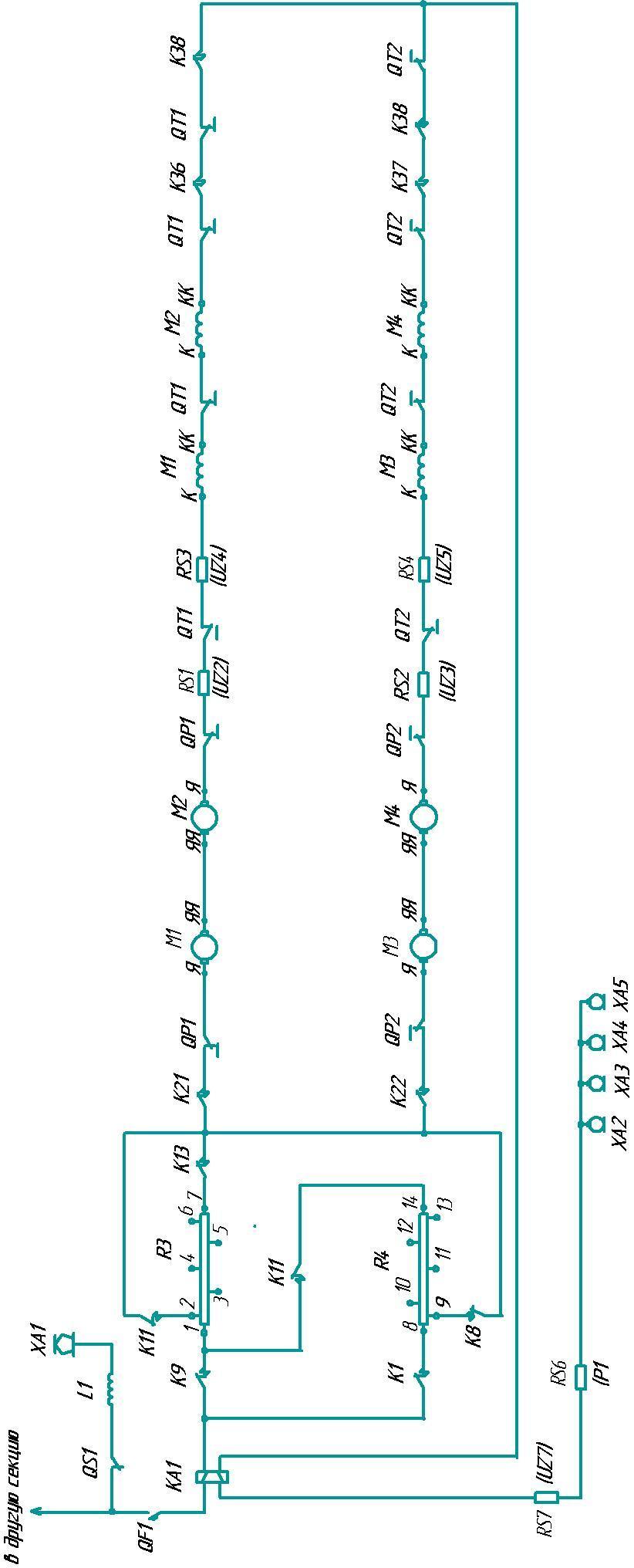 схема соединения резисторов к электродвигателю