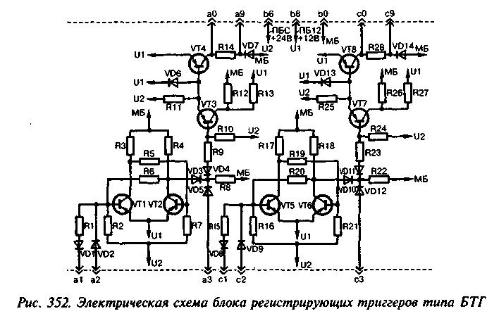 Электрическая схема бтг