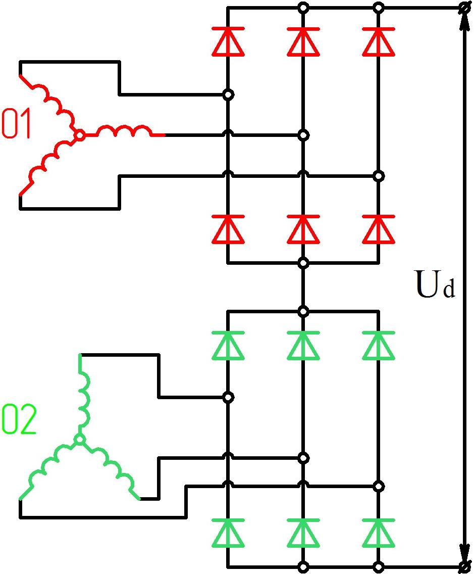 Подключение 3х фазного двигателя схема