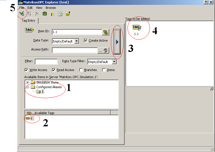 MatrikonOpc Server for Simulation