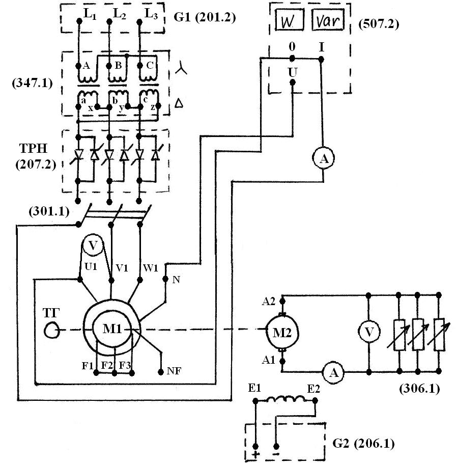Схема асинхронного двигателя с короткозамкнутым фото 449