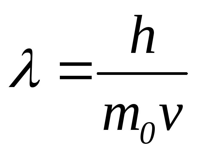 Основные формулы Атомная физика Атом водорода Так как импульс р в классическом приближении v<<c выражается формулой p m0v