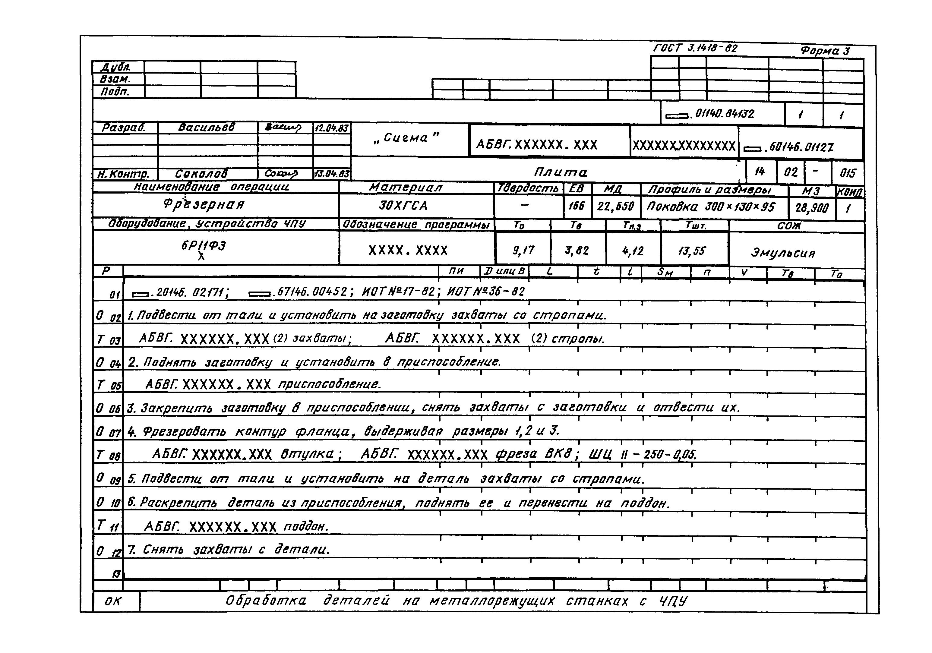 бланк маршрутной карты doc