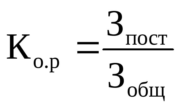 Контрольные вопросы 1 Доля условно постоянных затрат производственного характера в общей их сумме Данный показатель называют коэффициентом операционного рычага