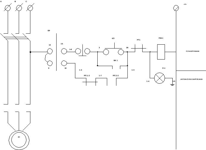 Схема управления циркуляционными насосами