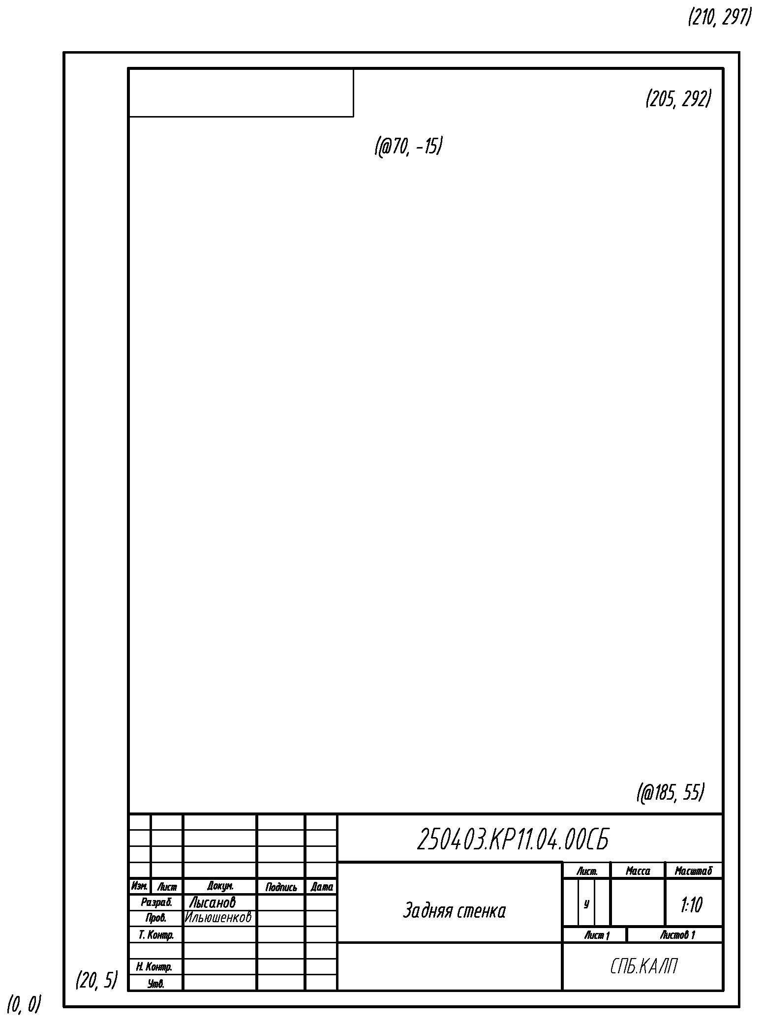 графика размеры рамок инженерная