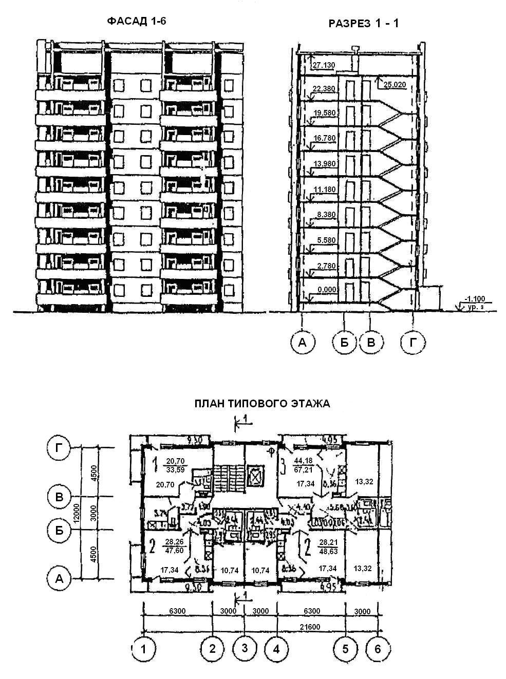 Раздел Основные положения по курсовой работе Представленные в качестве примера данные паспорта типового проекта 135 0320с 13 87 девятиэтажного крупнопанельного жилого дома содержат план типового этажа