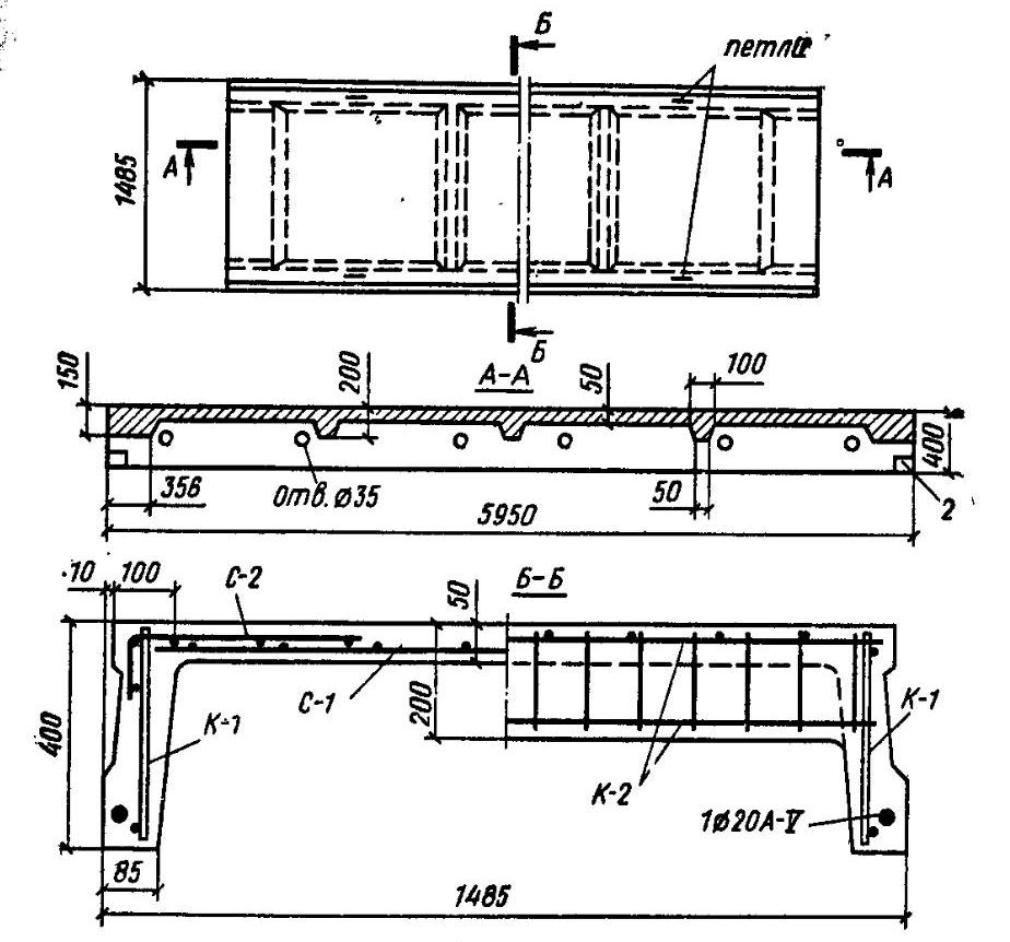 Схема армирования ребристых плит