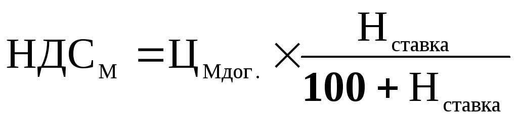 Методические указания для выполнения практической части курсовой  Затем рассчитать налог на добавленную стоимость по приобретенным материалам НДСМ по формуле