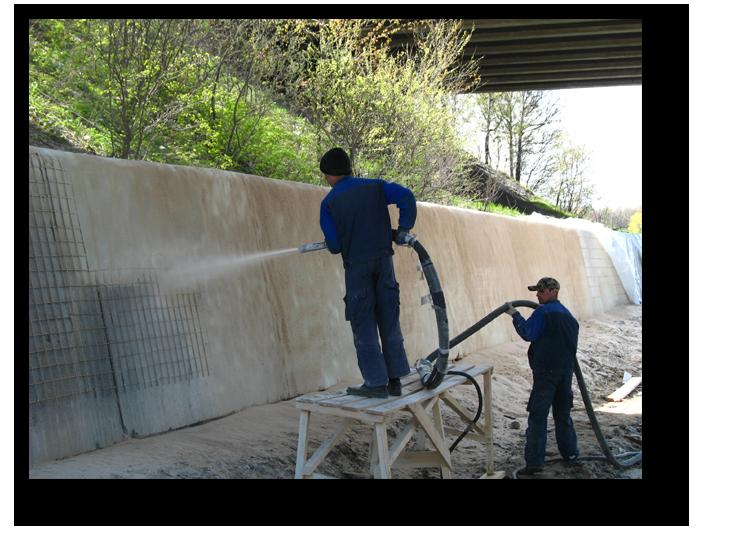 Послойное нанесение бетонной смеси на поверхность строительной конструкции снип керамзитобетон
