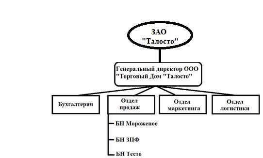 Организационная структура ооо Торговый Дом Талосто и  Организационная структура ооо Торговый Дом Талосто и взаимосвязь подсистем управления