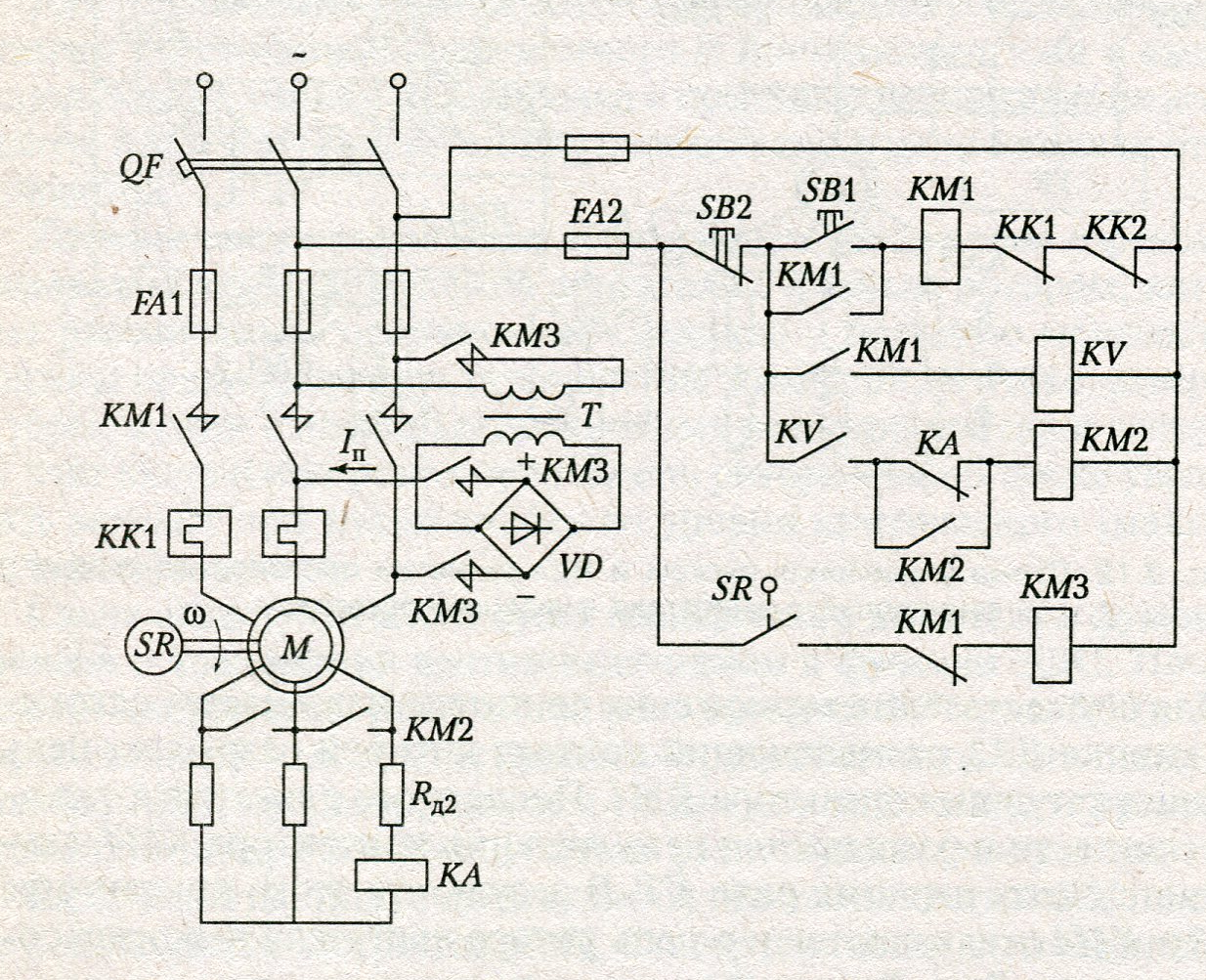 Схема подключения электродвигателя звезда треугольник