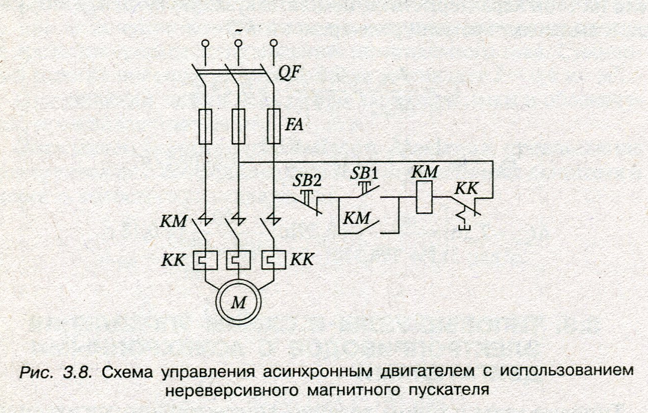 Схема асинхронного двигателя с короткозамкнутым фото 187